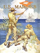 WWI - Two Marines on the Beach