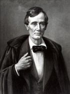 President Abraham Lincoln Wearing Overcoat