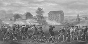 American Minutemen Being Fired Upon by British troops