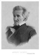President Andrew Jackson (black & white portrait)
