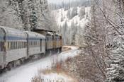 Via Rail Snow Train Between Edmonton & Jasper, Alberta, Canada