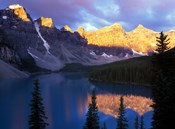 Lake Moraine at First Light, Banff National Park, Alberta, Canada
