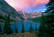 Lake Moraine at Dawn, Banff National Park, Alberta, Canada
