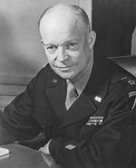 WWII Photo of General Dwight D Eisenhower