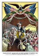 General George Washington on Horseback (color)