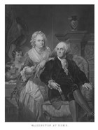 President George Washington and His Family (black and white portrait)