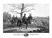 Generals Robert E Lee and Ulysses S Grant