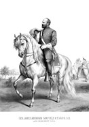 President James Garfield on Horseback