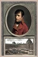 Napoleon Bonaparte Above a Troop Review