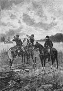 Three Civil War Soldiers onHorseback