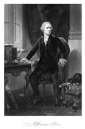 Alexander Hamilton Sitting at His Desk