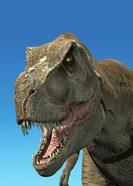 3D Rendering of Tyrannosaurus Rex, Close-up