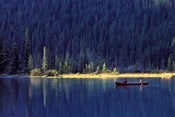 Fishing on Waterfowl Lake, Banff National Park, Canada