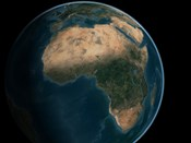 Full Earth from Space Above the African Continent