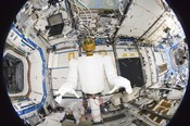 A Humanoid Robot in the Destiny Laboratory of the International Space Station