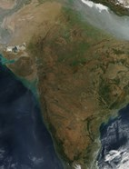 Satellite View of Central India