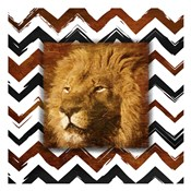 Lion with Chevron Border
