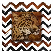 Cheetah with Chevron Border