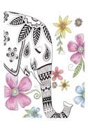 Tribal Elephant Portrait