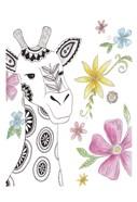 Tribal Giraffe Portrait