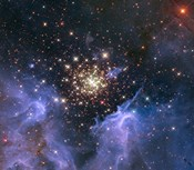 Starburst Cluster Shows Celestial Fireworks