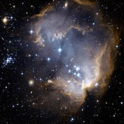 Hubble Observes Infant Stars in Nearby Galaxy