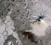 An Ash Rich Plume Rises above the Shiveluch Volcano on Russia's Kamchatka Peninsula