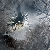 Shiveluch Volcano in Russia