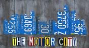 Detriot City Skyline License Plate