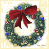 Pine Wreath With Red Ribbon