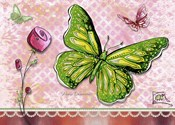 Green Yellow Butterfly 1