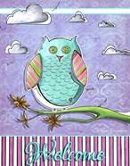 Pink Aqua Owl 1