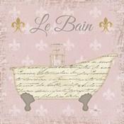 Vintage Bath VI Fleur Pink