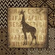 African Wild Giraffe Border