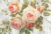 Vintage Roses on Driftwood