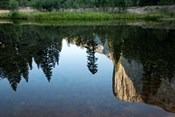 Reflection of El Capitan in Mercede River, Yosemite National Park, California - Horizontal