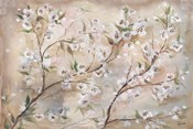 Cherry Blossoms Taupe Landscape