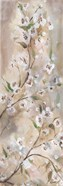 Cherry Blossoms Taupe Panel I