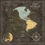 Old World Journey Map Black I
