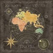 Old World Journey Map Black II