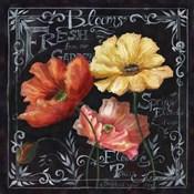 Flowers in Bloom Chalkboard II