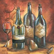 Red and Gold Wine I
