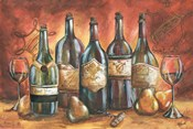 Red and Gold Wine Landscape