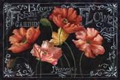 Flowers in Bloom Chalkboard Landscape