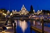 Canada, British Columbia, Victoria, Inner Harbor at Dusk