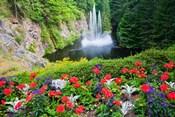 Butchart Gardens Water Fall, Victoria, British Columbia, Canada