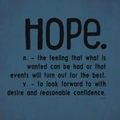 Definitions-Hope III