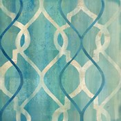 Abstract Waves Blue/Gray Tiles II