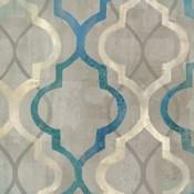 Abstract Waves Blue/Gray Tiles III