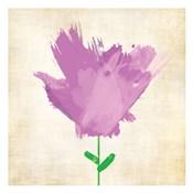 Brush Stroke Flowers Violet 2